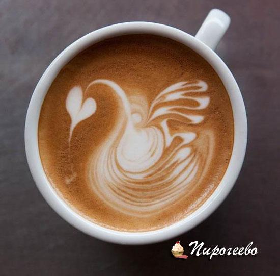 Домашнее кофе латте-макиато