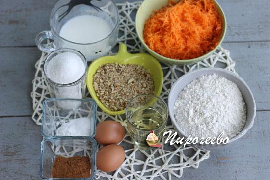 Как приготовить  морковные капкейки